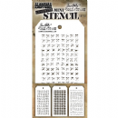 MTHS033 Stampers Anonymous Tim Holtz Layering Stencil - Mini Stencil Set #33